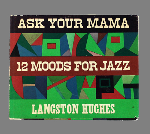 """<span id=""""docs-internal-guid-f989058c-284c-3741-0a2b-313b6ff89509""""><span>An image of </span><em>As Your Mama: 12 Moods for Jazz</em><span> by Langston Hughes</span></span>"""