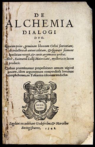 """<span id=""""docs-internal-guid-f989058c-2862-03c5-31ec-eea92c059a0c""""><span>An image of </span><em>De alchemia dialogi duo quorum, prior, genuinam librorum Gebri sententiam, de industria ab autore celatum, &amp; figurato sermone involutam retegit, &amp; certis argumentis probat</em><span> by Giovanni Braccesco</span></span>"""