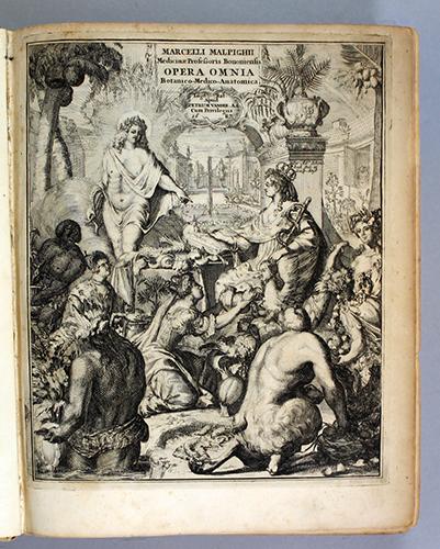 """<span id=""""docs-internal-guid-f989058c-2365-abfa-f02d-8cddbf2846c5""""><span>An image of </span><em>Opera Omnia, seu, Thesaurus Locupletissimus Botanico-Medico-Anatomicus, Viginti Quatuor Tractatus Complectens, et in Duos Tomos Distributus, Quorum Tractatuum Seriem Videre est Dedicatione Debsolut&acirc;</em><span> by Marcello Malpighi</span></span>"""