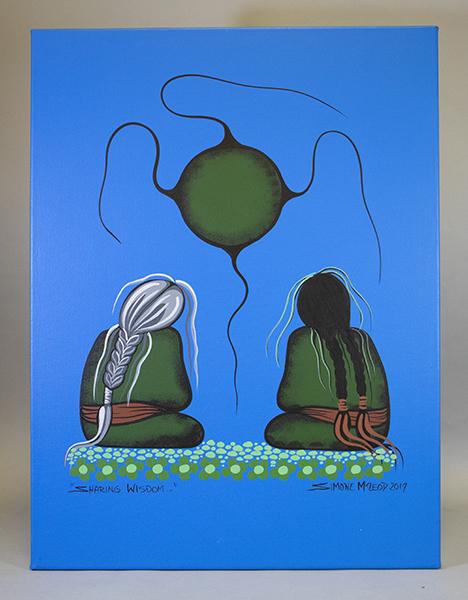 An image of&nbsp;<em>Sharing Wisdom</em> by Simone McLeod
