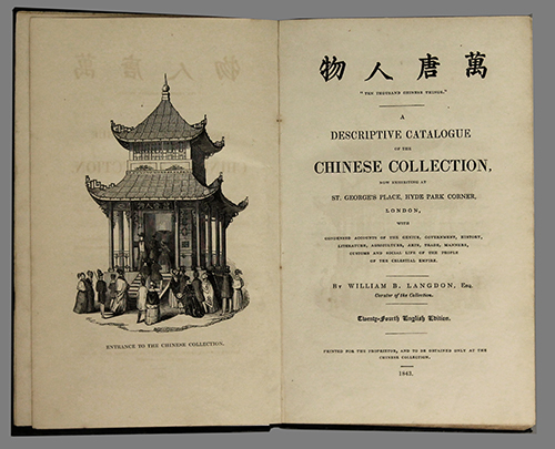"<div style=""text-align: left;""><span id=""docs-internal-guid-f989058c-1de0-9709-dd50-4d0e7bcd32c1""><span>An image of </span><em>Ten Thousand Chinese Things. A Descriptive Catalogue of the Chinese Collection, Now Exhibiting at St. George&rsquo;s Place, Hyde Park Corner, London, with Condensed Accounts of the Genius, Government, History, Literature, Agriculture, Arts, Trade, Manners, Customs and Social Life of the People of the Celestial Empire</em><span> by William B. Langdon</span></span></div>"