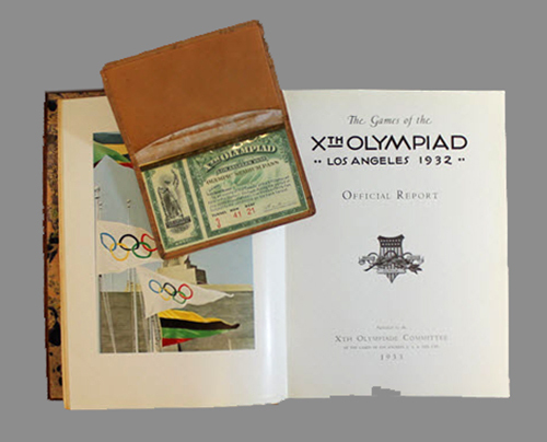 """<span id=""""docs-internal-guid-f989058c-284a-b22b-8891-d7ae9f68901b""""><span>An image of </span><em>The Games of the Xth Olympiad, Los Angeles, 1932: Official Report</em></span>"""