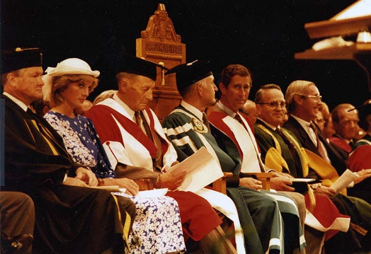 An image of convocation ceremonies in 1983