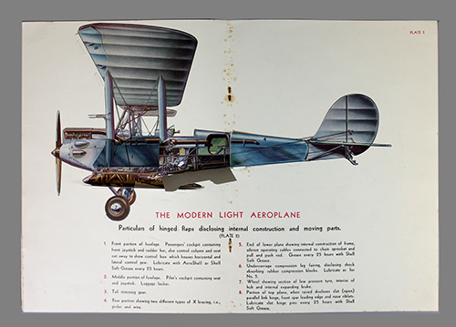 "<span id=""docs-internal-guid-f989058c-1e1d-8c2f-7d81-21f7e309d617""><span>An image of </span><em>The Modern Light Aeroplane</em><span> by Shell Oil Company</span></span>"