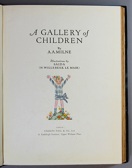 An image of&nbsp;<em>A Gallery of Children</em> by A. A. Milne