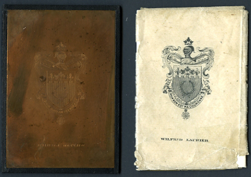 """<span id=""""docs-internal-guid-f989058c-2853-5331-f14b-e2b6d49a4679""""><span>An image of Ex Libris Printing Plate of Prime Minister Sir Wilfred Laurier</span></span>"""