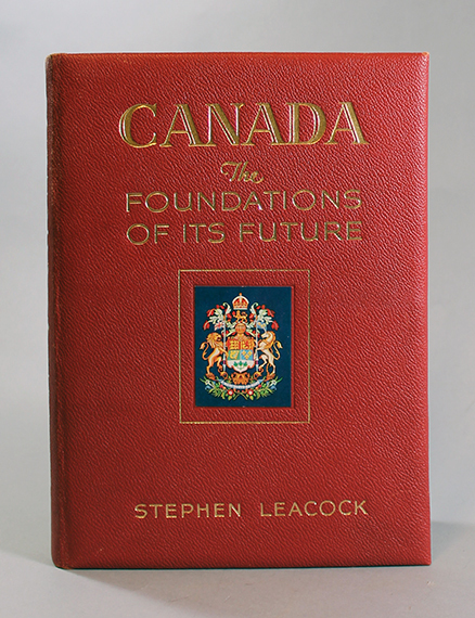 An image of&nbsp;<em>Canada: The Foundations of Its Future</em> by Stephen Leacock