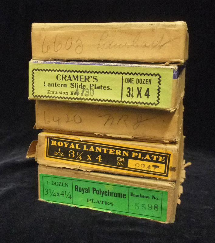 Photographic Plate and Magic Lantern Slide Boxes