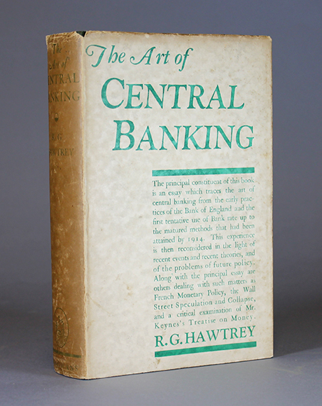 An image of&nbsp;<span><em>The Art of Central Banking&nbsp;</em>by&nbsp;<span>R.G. Hawtrey</span></span>