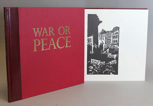 "<span id=""docs-internal-guid-f989058c-2856-c719-0a2a-ffc5f81b08b8""><span>An image of </span><em>War and Peace: Twelve Linocuts</em><span> by Noel Counihan</span></span>"