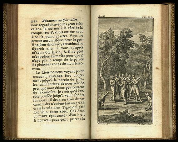 """An image of <em>Les avantures de Monsieur Robert Chevalier dit de Beauchêne, capitaine de flibustiers dans la Nouvelle France </em>by&nbsp;<span id=""""docs-internal-guid-4fcb2038-7fff-d1ed-93e6-b670e52a58e6"""">Alain-René Lesage</span>"""