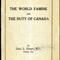 The World Famine and the Duty of Canada