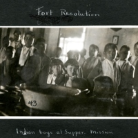First Nations Boys in the Fort Resolution Catholic Mission Meal Hall