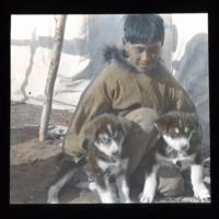 Alex Stefansson with Puppies