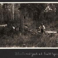 Miriam Green Ellis in Camp at Salt Spring