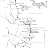 Map of Miriam Green Ellis' Aklavik Trip