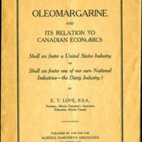 Oleomargarine and its Relation to Canadian Economics