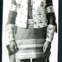 Portrait of a Cree Man in Sun Dance Regalia