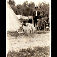 First Nations Family With Tepee