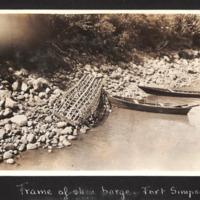 Skin Barge Frames at Fort Simpson
