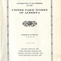 United Farm Women of Alberta Cook Book