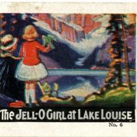 The Jell-O Girl at Lake Louise