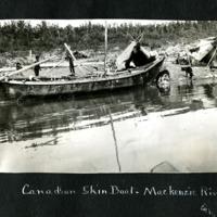 Skin Boat on the Mackenzie River