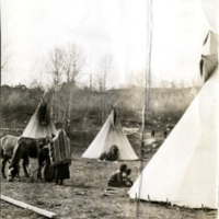 Tepees at Hobbema
