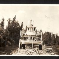 Steam Wheeler 'Slave River' Taking On Fuel