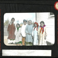 Magic Lantern Slide - Mrs. Stefansson and Old Mary