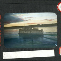 Magic Lantern Slide - Steam Wheeler Under the Midnight Sun