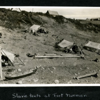 Slavie First Nation Tents at Fort Norman