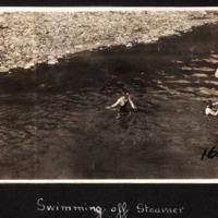 Swimming Alongside the Steam Wheeler