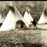 Tepees at Hobbema - Wide View