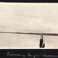 Miriam Green Ellis Swimming in the Mackenzie River