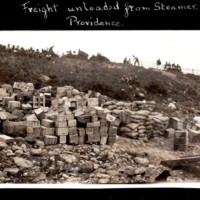 Freight Unloaded from Steam Wheeler at Providence