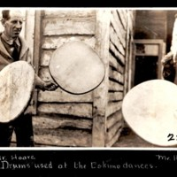 Mr. Hoare and Mr. Hester with Inuit Drums