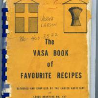 The Vasa Book of Favourite Recipes