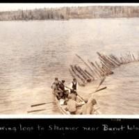 Towing Logs to Steam Wheeler