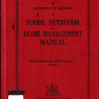 Foods, Nutrition and Home Management Manual