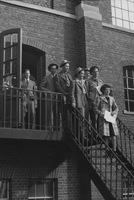 Freshmen on campus Tour, 1942